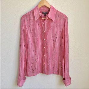 NEW Classiques Entier Blouse Size 6 Pink Black